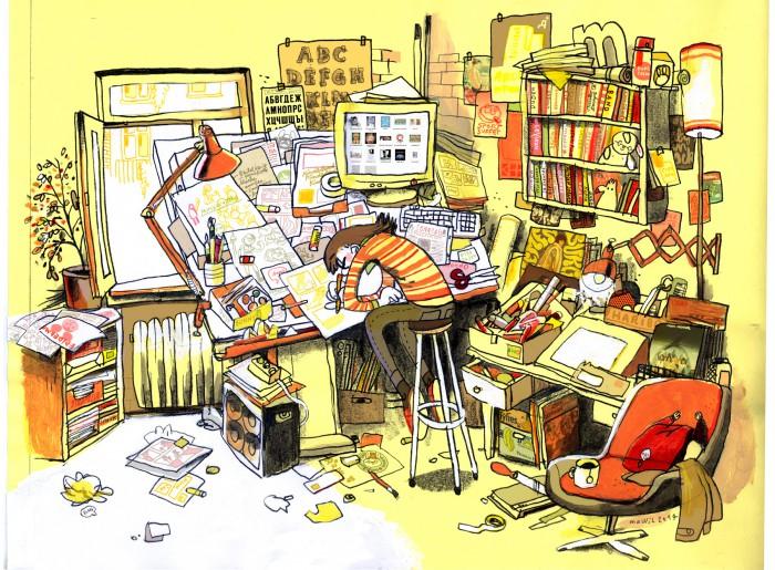 Bei Mawil im Atelier