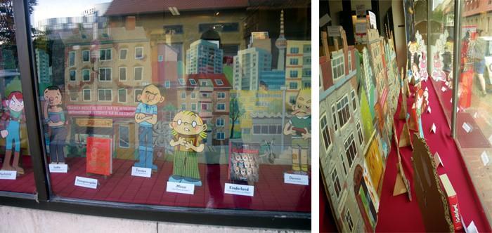 Ausstellung im Ultra-Comix-Ladengeschäft zum Comicsalon Erlangen