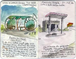 goergien azerbaijan mawil skizze fahrrad