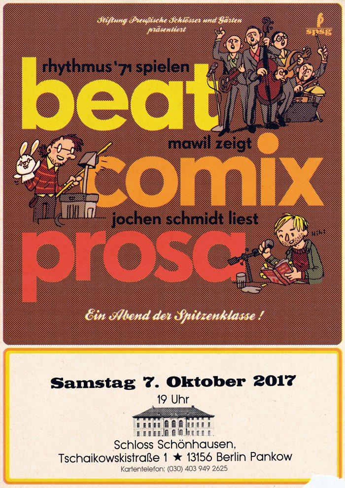 beat comix comics prosa rhythmus 71 jochenschmidt mawil lesung schlager texte 2017
